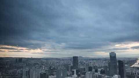 [29일 날씨] 미세먼지 '나쁨'…서·남해상 '돌풍·번개'