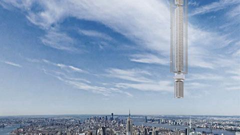 하늘을 날아다니는 초고층 빌딩