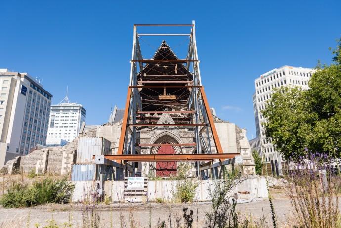 2010년 뉴질랜드 크라이스트처치에 서 발생한 규모 7.1 지진으로 무너진 대성당의 모습. - pixabay 제공