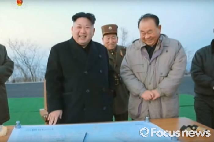 북한 조선중앙 TV는 지난 6일 김정은 북한 노동당 위원장이 화성포병부대 발사훈련을 현지지도 했다고 보도했다. <사진출처=유튜브 캡쳐> - 포커스뉴스 제공