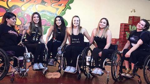 우리는 행복한 휠체어 댄스팀