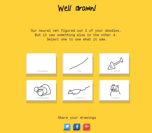 인공지능의 이미지 인식률을 높이기 위해 구글이 개발한 게임 퀵드로우 - 구글 제공