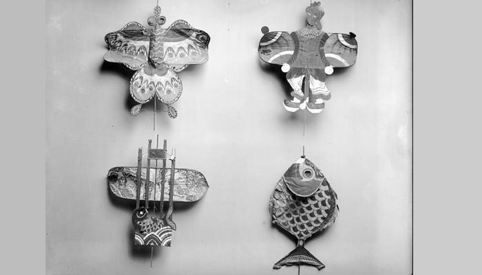 미국 국립항공우주박물관의 첫 소장품인 중국 전통연의 일부 모습. - 스미소니언 아카이브 제공