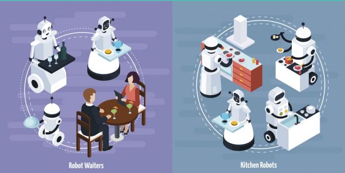 카페 알바가 가능한 로봇 시스템을 프로그래밍하려면, 음료를 만드는 로봇은 물론 서빙을 하는 로봇도 설계해야 한다. - (주)동아사이언스(이미지소스:GIB) 제공