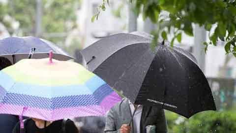 [25일 날씨] 전국 흐리고 곳곳 비…천둥·번개·돌풍 동반