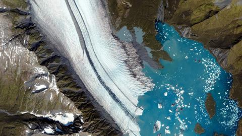 위성에서 촬영한 아름다운 지구