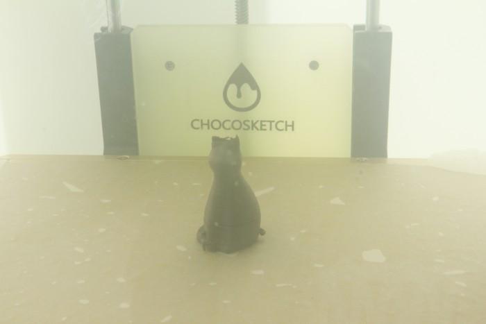 초콜릿 소재로 인쇄할 수 있는 3D 프린터! 하지만 진짜 먹을 순 없다고 합니다 ㅜㅜ. - 염지현 제공