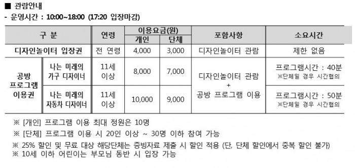 관람안내 - 지앤씨미디어 제공