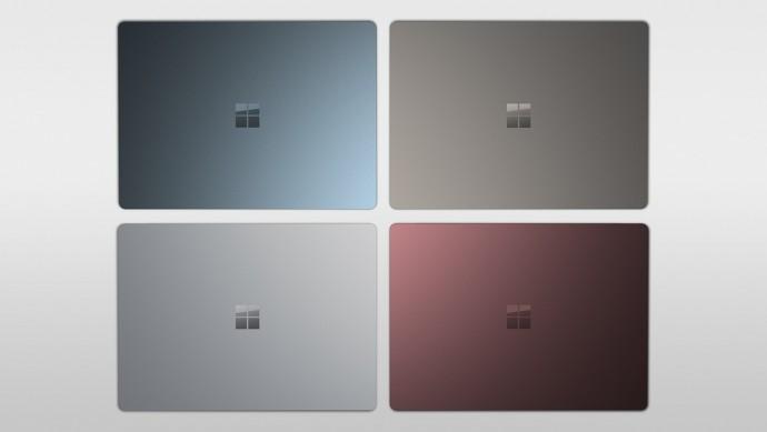 서피스 랩톱은 4가지 색으로 나옵니다. 프로세서도 코어i5부터 i7까지 쓰입니다. - 마이크로소프트 제공