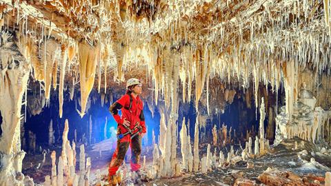 브라질의 신비한 석회동굴 속 풍경