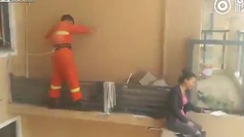 자살 시도 여성을 구한 소방관