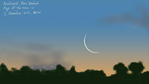 [제25회 천체사진공모전 수상작] 쉽게 보기 어려운 초하루 달의 모습
