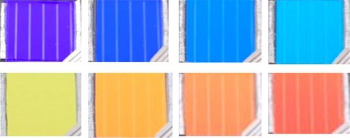 연구진이 제작한 형형색색의 창호용 태양전지. - KIST 제공