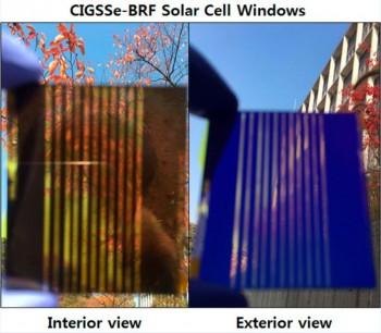 연구진이 개발한 태양전지는 반투명한 구조로 실외를 내다볼 수 있어 창문을 대체하기 적절하다. - KIST 제공