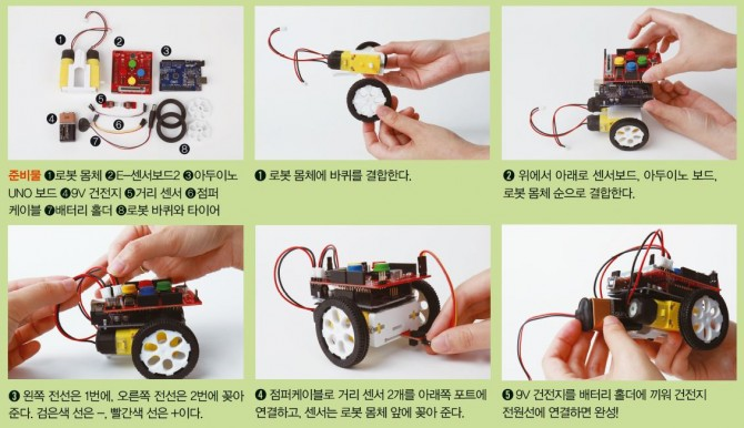E-센서로봇 만들기 - 어린이과학동아 제공
