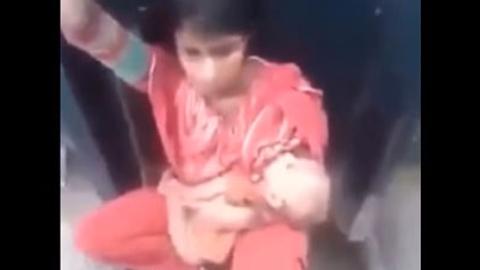 아기 안고 열차에 무임승차, 가난한 엄마