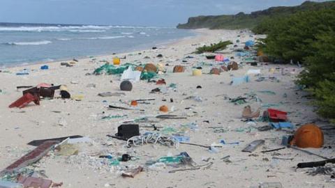 쓰레기 섬이 된 열대의 낙원
