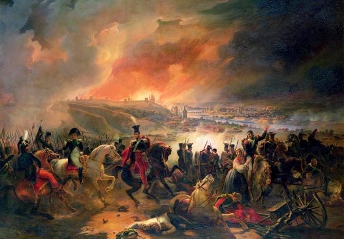 프랑스 화가 장 샤를 랑글루아의 그림으로, 1812년 나폴레옹의 러시아 원정 중 일어난 스몰렌스크 전투를 묘사했다. - public domain 제공