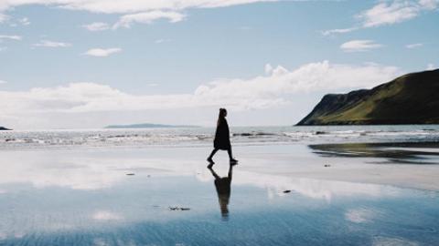 물위를 걷는 듯, 스코틀랜드 풍경