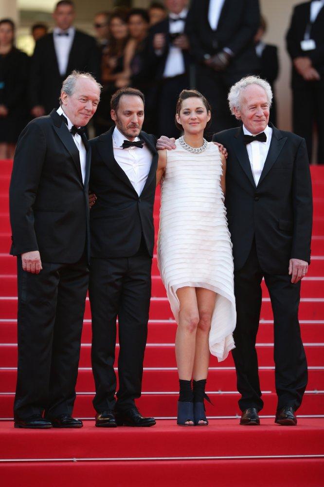 가운데 오른쪽 마리옹 꼬띠아르, 가운데 왼쪽 파브리지오 롱기온, 양 옆 다르덴 형제 - © 2014 Getty Images 제공