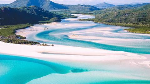 호주, 하얀 천국 같은 해변