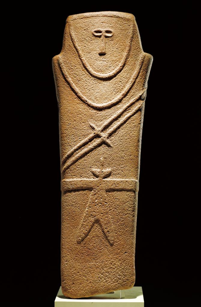 기원전 4000년 무렵에 만들어진 사람 모양의 석상. - 국립중앙박물관 제공