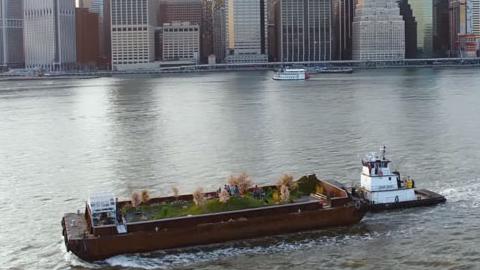 떠다니는 유기농 밭을 만든 뉴욕의 아티스트