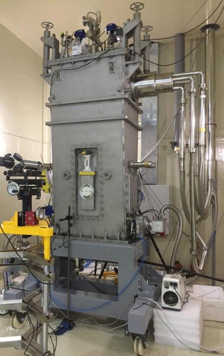 기초과학연구원(IBS) 중이온가속기건설구축사업단이 2021년 가동 목표로 구축 중인 중이온가속기 '라온(RAON)'의 저에너지구간 초전도가속모듈. - IBS 제공