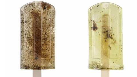 먹을 수 없는 아이스크림, 구정물을 얼린 아이스크림