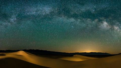 미국 데스밸리의 화려한 밤풍경