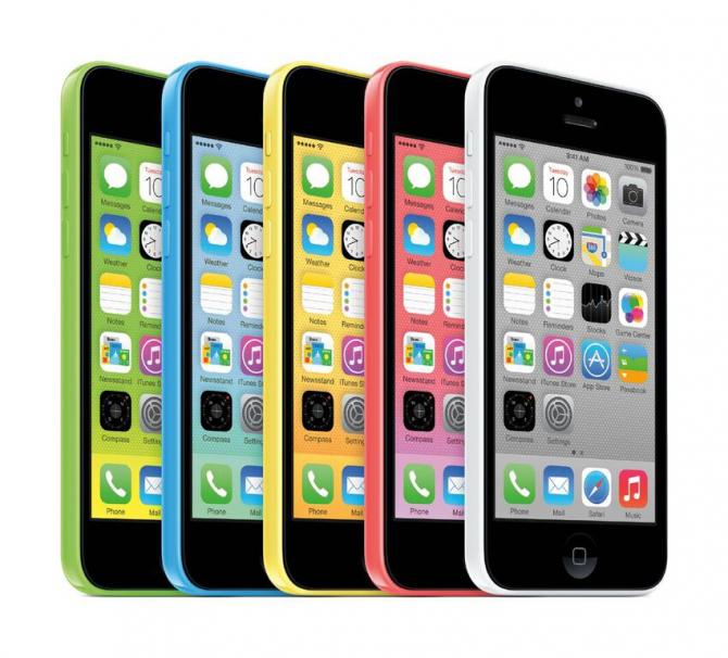 아이폰5S와 함께 등장했던 아이폰5C - 애플 제공