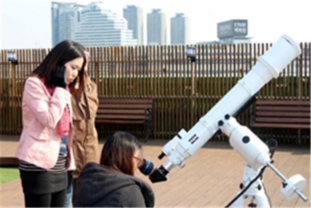 과학동아 천문대 태양 관측. - 과학동아 천문대 제공