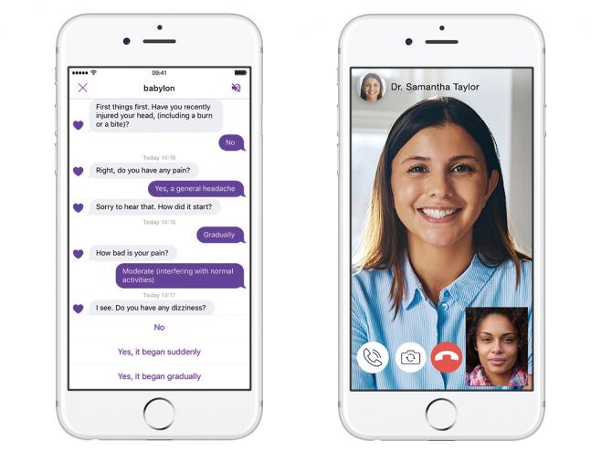 인공지능이 증상에 따라 의료적인 조언을 하고, 의사와 화상 진료도 할 수 있는 앱이 출시됐다. - Babylon-Health 제공