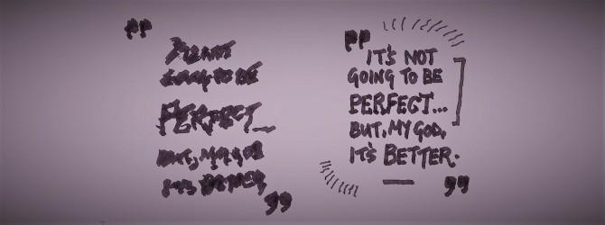 엠마가 쓴 글씨, 왼쪽은 교정 전, 오른쪽은 교정 후에 쓴 글씨다. - 최호섭 제공