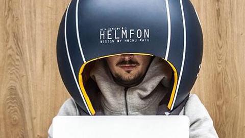사무실이 시끄럽다면, 대형 헬멧