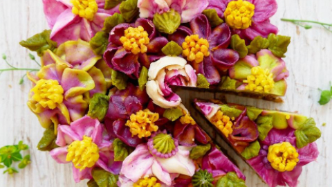 채식주의자를 위한, 꽃잎 케이크