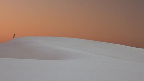 미국, 하얀 사막 언덕 풍경