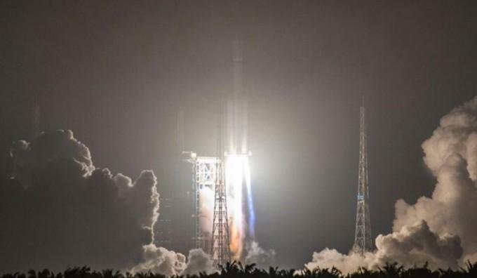 중국이 올해 4월 발사한 자체 개발 첫 화물우주선 '톈저우 1호'. - 유튜브 캡처 제공