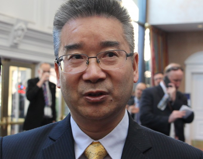 올해 4월 미국 콜로라도스프링스에서 열린 '제33회 스페이스 심포지엄'에서 만난 톈위룽 중국국가항천국(CNSA) 사무총장. - 콜로라도스프링스=송경은 기자 kyungeun@donga.com