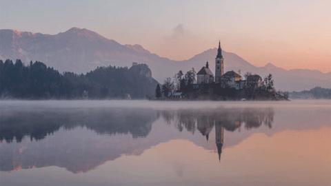 슬로베니아, 맑고 평화로운 호수 풍경