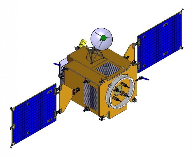 개발 중인 한국형 달탐사선 1단계(달궤도선)의 모습. - 한국항공우주연구원 제공