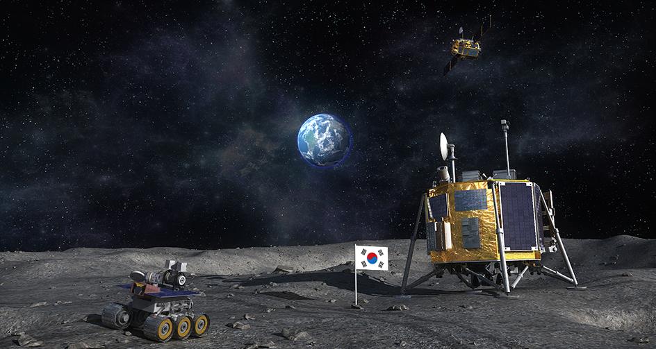 한국의 달 탐사 상상도. - 한국항공우주연구원 제공