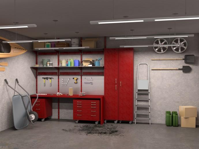 미국은 대부분 주거지 근처에 사진과 같은 차고나 창고와 같은 공간이 마련돼 있다. 전문가들은 주로 이곳에서 메이커 문화가 시작됐다고 말한다. - GIB 제공