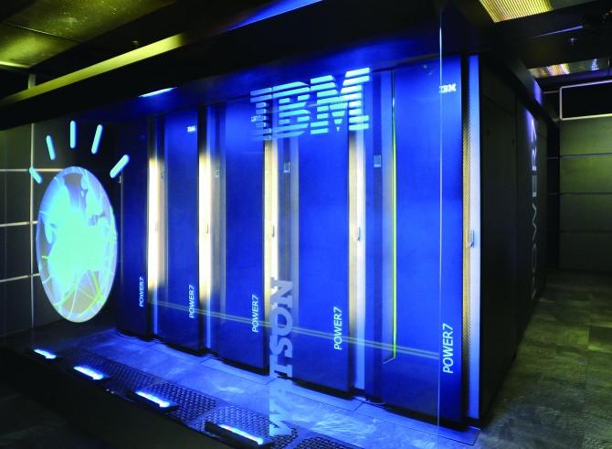 IBM 본사에 있는 왓슨의 모습. 한국과 인도 등 해외 병원에서는 클라우드 컴퓨팅 기술을 통해 왓슨을 활용할 수 있다. - IBM 제공