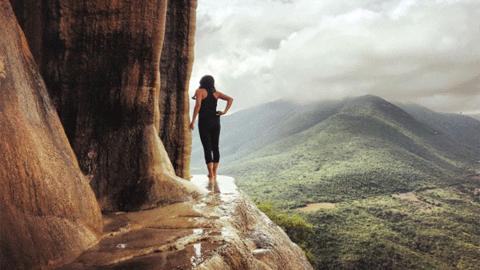 미끌미끌한 멕시코의 산에서 '아슬아슬'