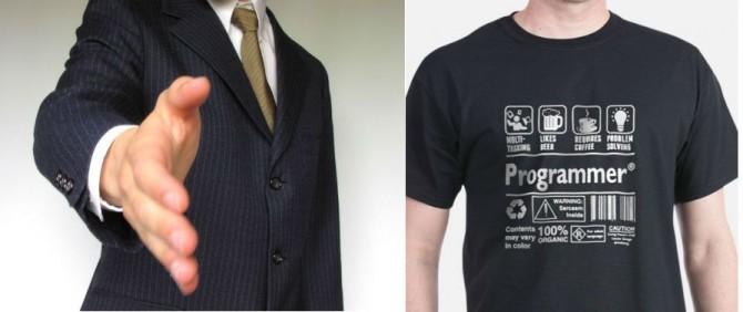 비즈니스 맨의 옷차림 vs 개발자의 옷차림