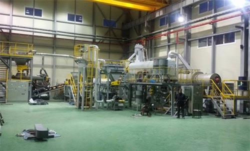 하이브리드 석탄을 실제 화력발전소에 적용할 수 있는지 실험하는 '플랜트' 생산시설. - 한국에너지기술연구원 제공