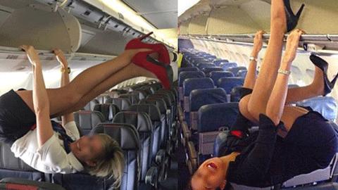 항공기 승무원들의 놀이 '화제'