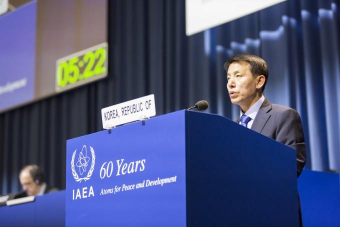 """(데스킹 전) 이진규 과기정통부 차관 """"강력한 북핵 결의 채택해야""""…IAEA 정기총회서 기조연설"""