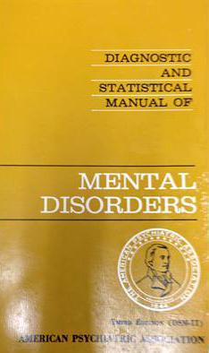 DSM-II 표지. DSM-II는 이례적으로 판이 바뀌기 전에 동성애를 진단명에서 삭제하였다. - TraumaAndDissociation 제공